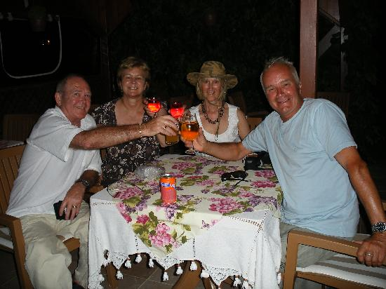 Mehtap Hotel Dalyan: Out with friends