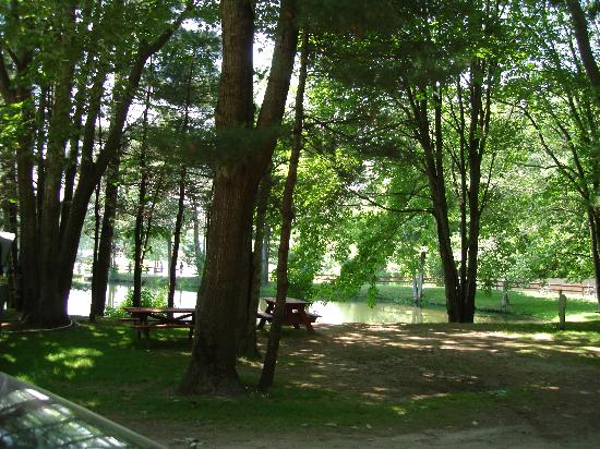 Scarborough, ME: view of pond from my campsite