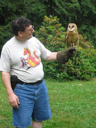 Raptors Ridge: This is me with 'Stomper,' a two-year old barn owl.