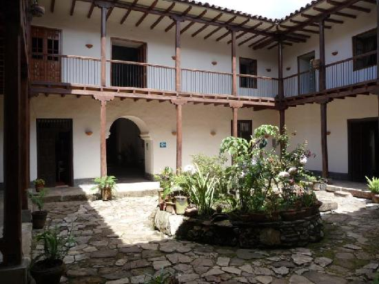 Typical hotel courtyard, Chachapoyas