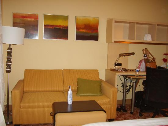 TownePlace Suites Huntsville: Sofa sleeper and work station
