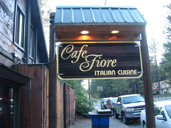 Cafe Fiore back of restaurant