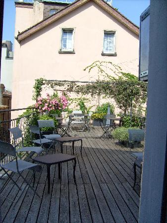Hotel Hirschen: The rooftop terrace