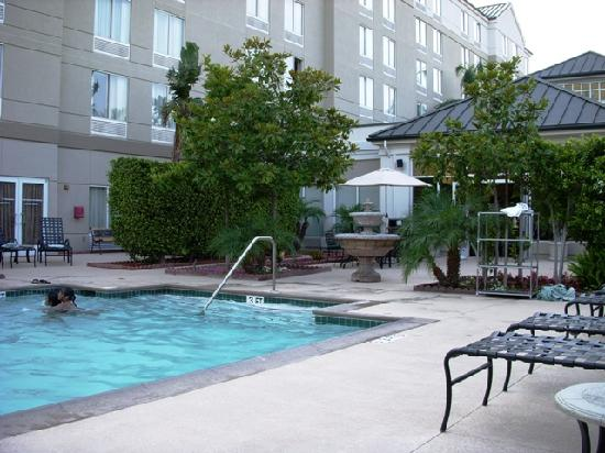 Hilton Garden Inn Anaheim/Garden Grove: Pool - looking towards hotel.