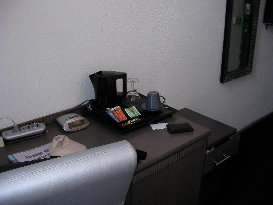 Hotel One: Desk and refreshment tray