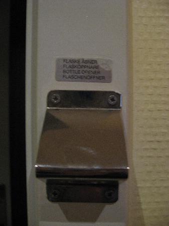 Hotel Du Nord Copenhagen: bottle opener in every room!