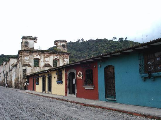 Western Highlands, Guatemala: Street in Antigua