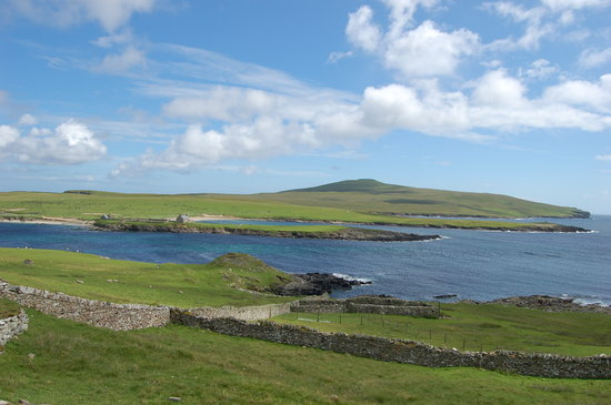 Lerwick, UK : Noss - view from Bressay