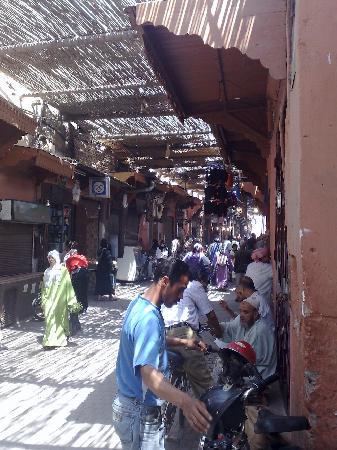 Riad Safa: the street off the derb near the riad