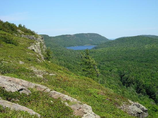Ontonagon, MI: This is a view of the Lake of the Clouds from the Big Carp River trail