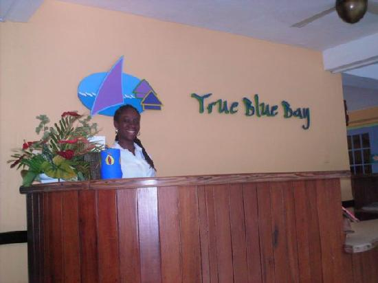 True Blue Bay Boutique Resort: The front desk