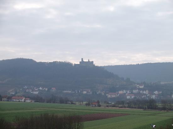 Elfershausen, Alemania: Blick aus dem Hotelzimmer