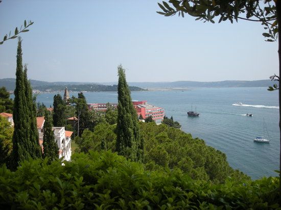 Portoroz, Slovenya: View from terrace