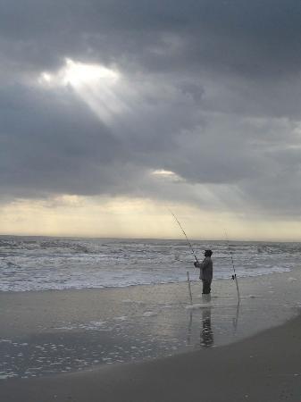Atlantic beach fisherman