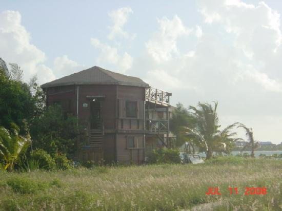 Colibri House: View of house from paved sidewalk.