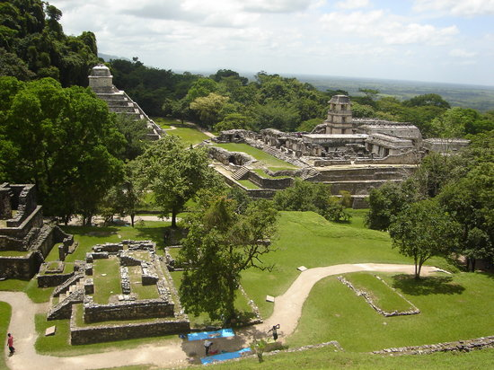 Palenque, Meksiko: View from the top of the ruin