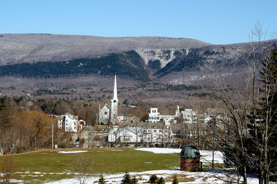 Manchester, VT: View from Burr & Burton Academy