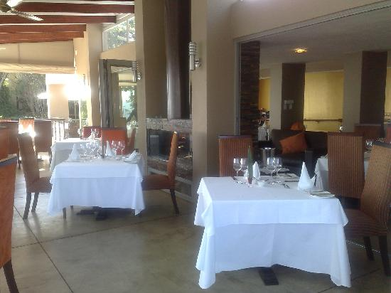 View from terrace into Orange Restaurant