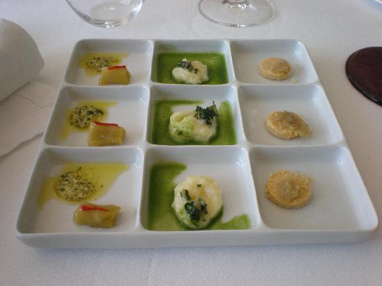 Le Petit Nice: Passedat individualiza los sabores en platos integrados por numerosas porciones minúsculas que d