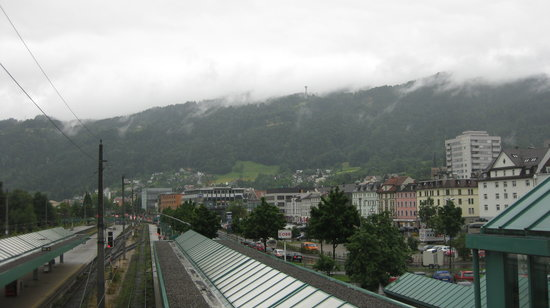Bregenz, Áustria: View from the train station