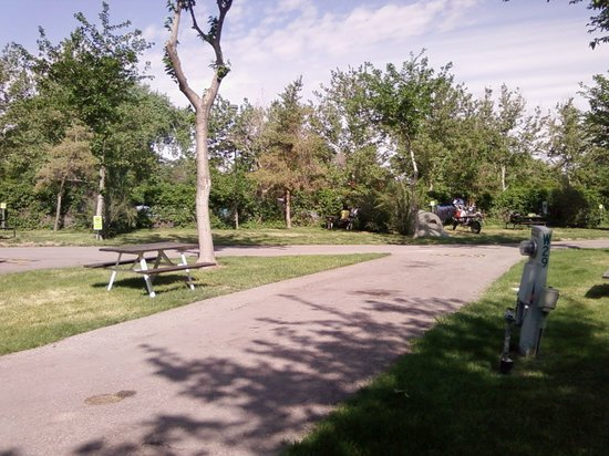 Salt Lake City KOA: Tent trailer spaces visible in background.