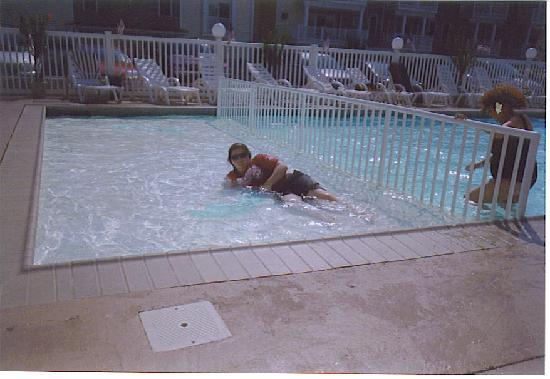 Sand Dune Resort Motel: my big baby in the baby pool lol
