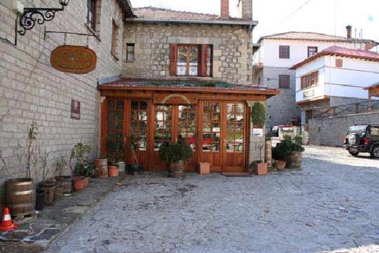 Metsovo, Grèce : Hotel's entry