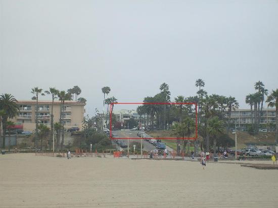 Bayside Hotel: depuis la plage
