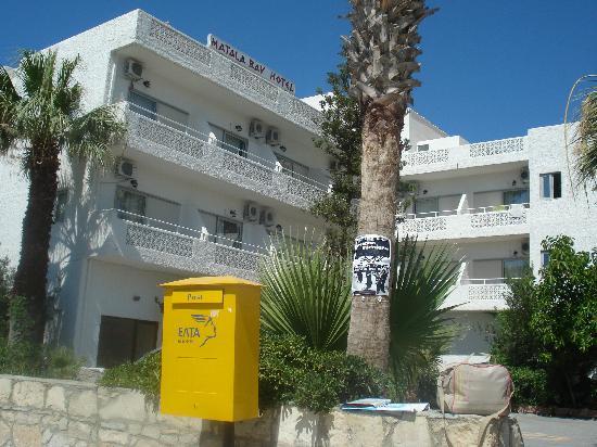 Matala Bay Hotel : Hotel Aussenansicht
