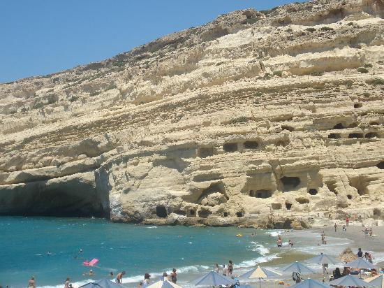 Matala Bay Hotel : Strand und Höhlen