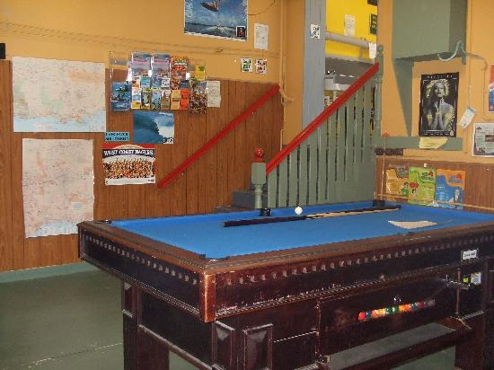Albany Backpackers: very small games room