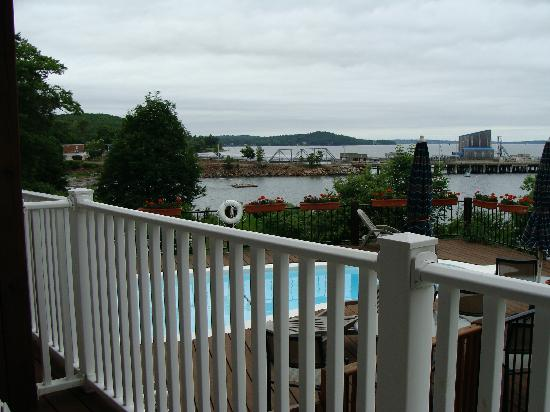 The Bayview: View of pool from our 1st floor room (#103)