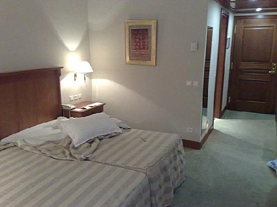 """Hotel Les Berges Du Lac- Concorde : My """"kingsize bed"""" - two small beds pushed together. Great..."""