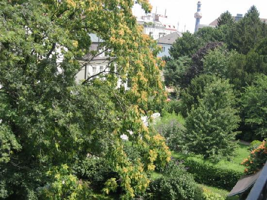 Hotel Park Villa: vue du balcon