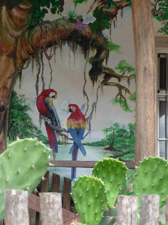 Tree Tops Guesthouse: Local art on home