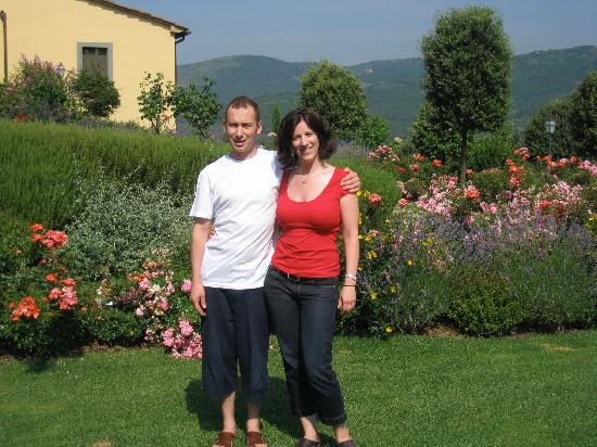 Casa Portagioia - Tuscany Bed and Breakfast: Me and Marcello (one of our wondeful hosts)