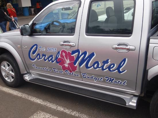 Coral Motel & Apartments: The motel car