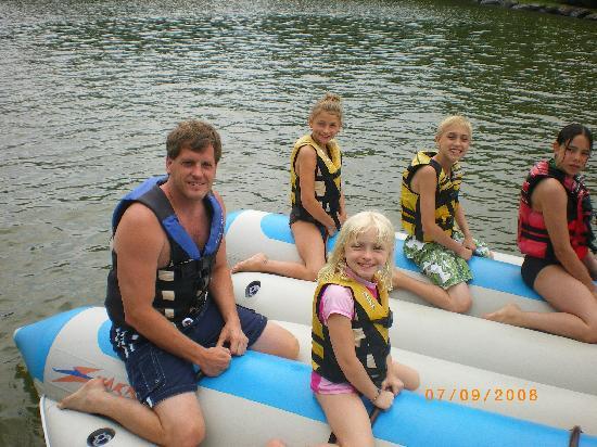 Rocking Horse Ranch Resort : Banana Boating FUN