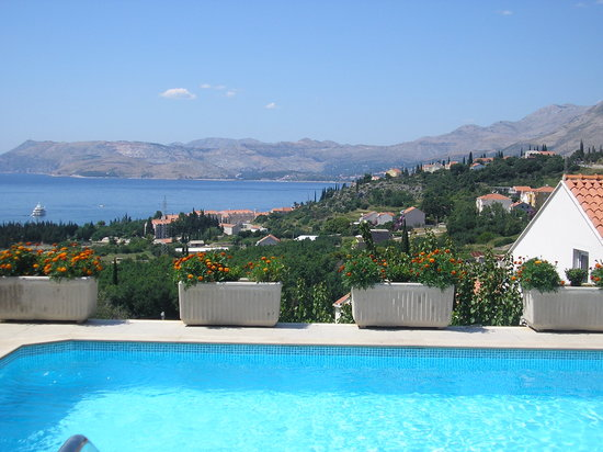 Apartments Zvrko: Pool with a view