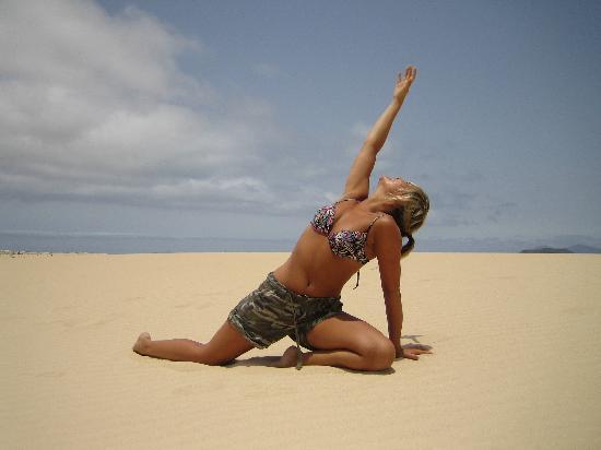 Villaverde, Spain: Practising yoga!! lol