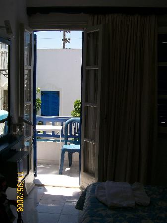 Windmill Naxos: view to balcony