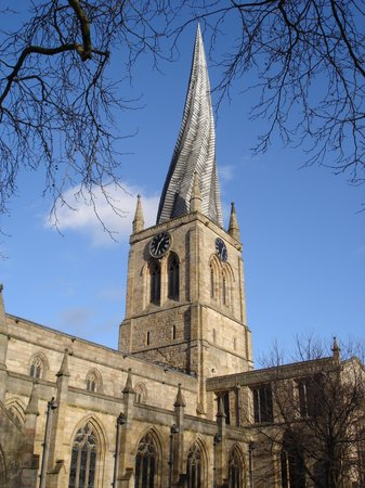 ‪‪Chesterfield‬, UK: Crooked spire Chesterfield parish Church‬