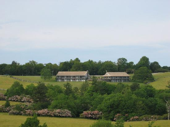 Bluffs Lodge from the meadows
