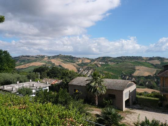 Hotel San Giacomo : View from the parking area to the North