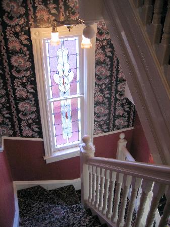 The Red Cottage: The stairway at Inn at 22 jackson