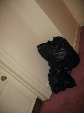 Derby Hotel : Garbage in hall day 2