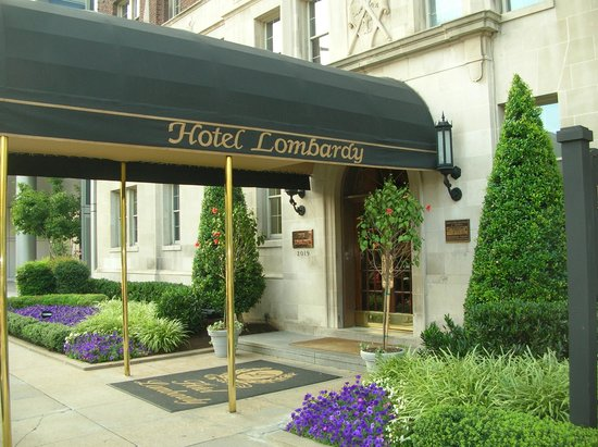 Hotel Lombardy: The front of the hotel.