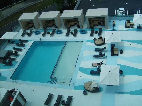 Hotel Indigo Boston Newton Riverside Outdoor Pool Photo From 7th Floor Room