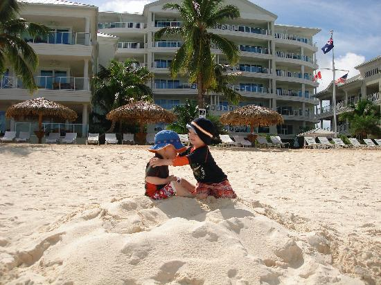 Caribbean Club: Our boys had plenty of space on the white sandy beach