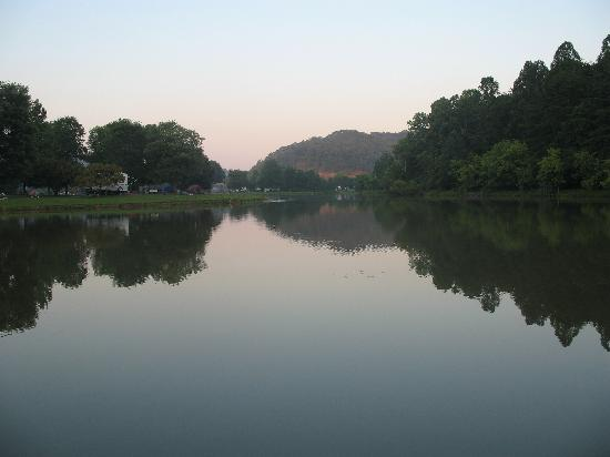 Beech Fork State Park: Evening view from our site